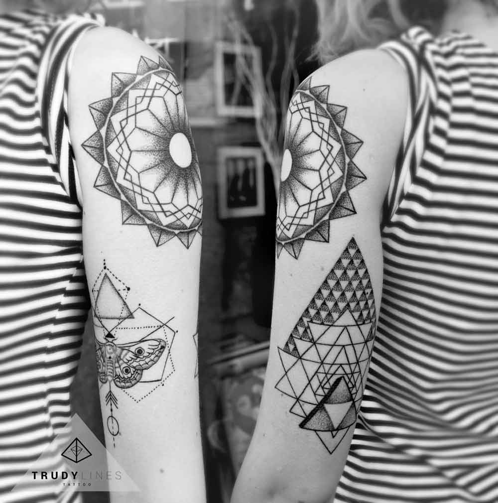 Mandala Geometric Tattoo Dotwork Linework