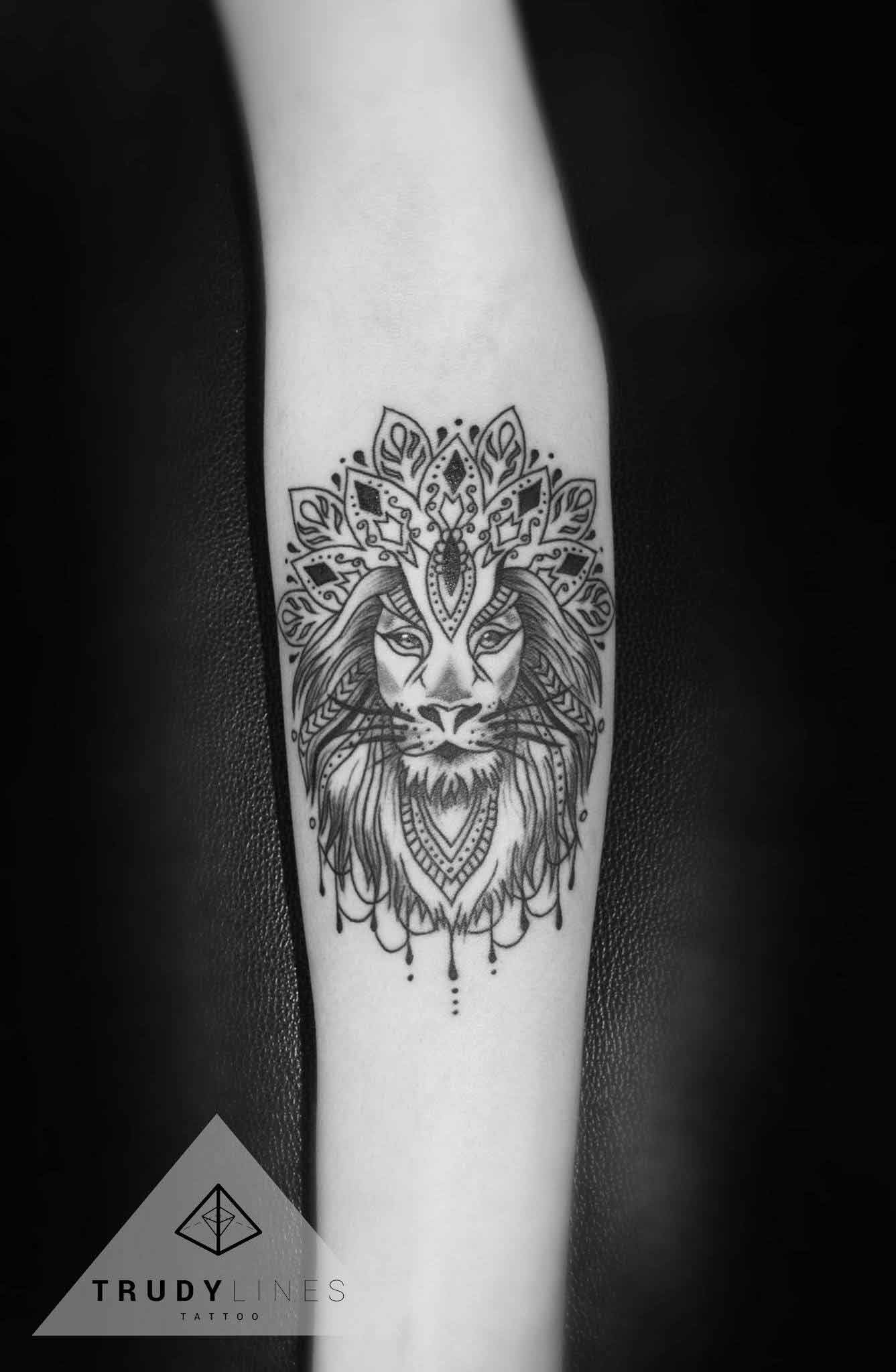 Mandala Lion Tattoo