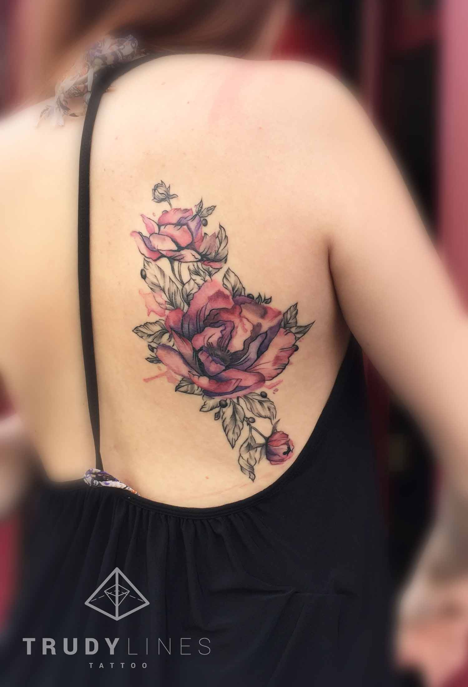 Flower Tattoo Watercolor