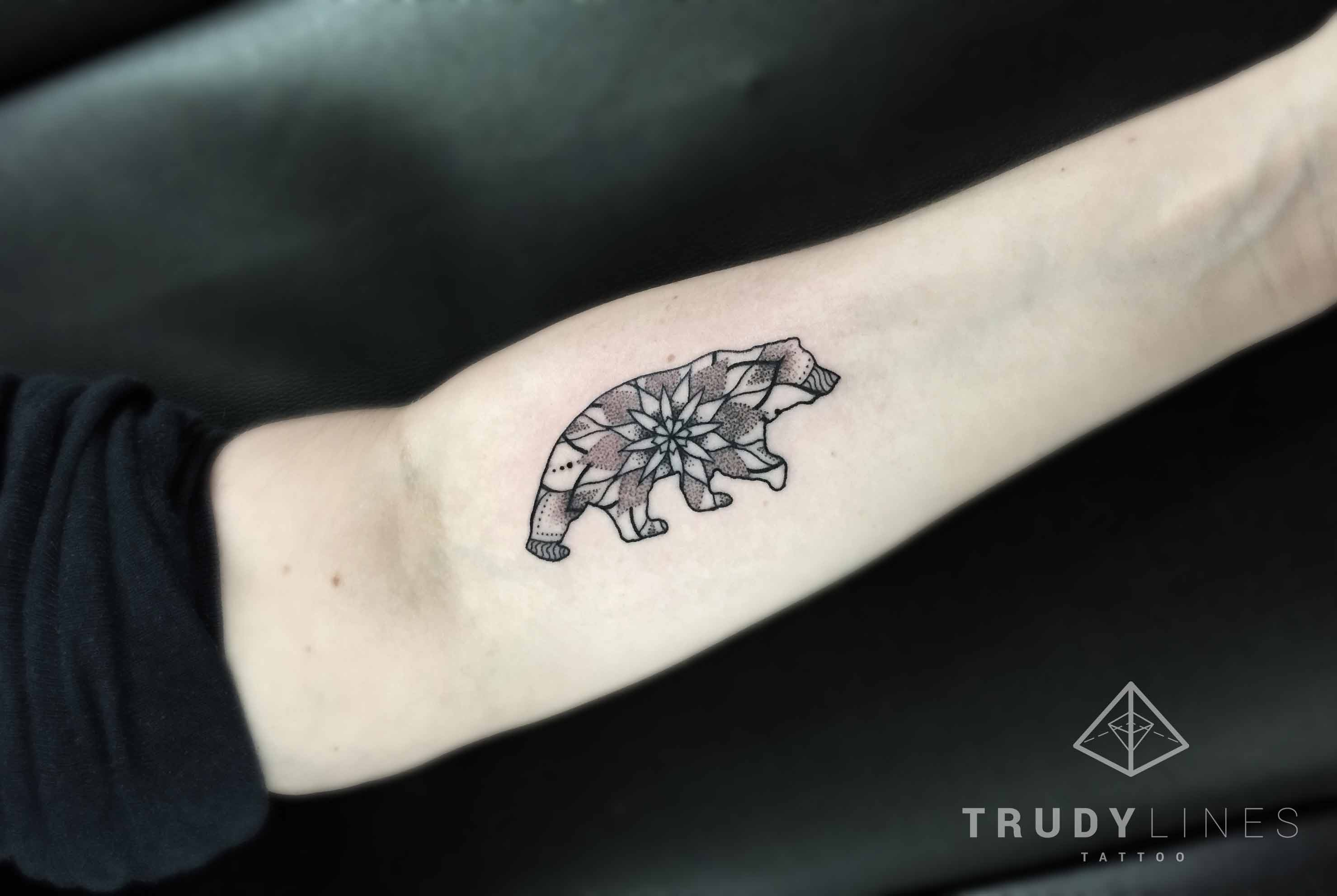mandala bear tattoo