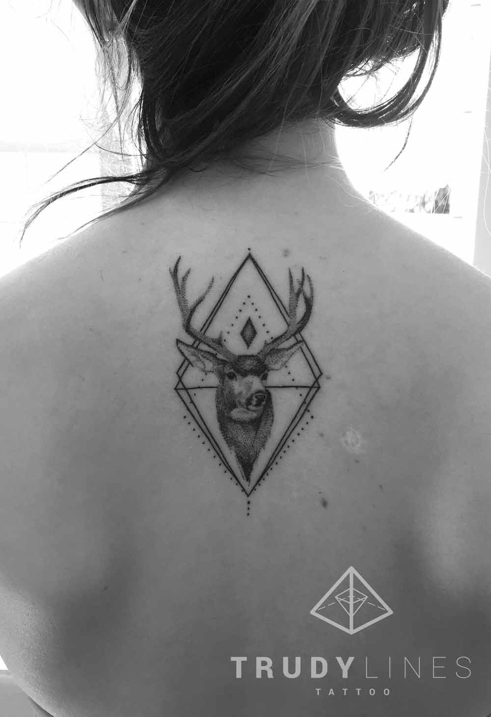 Geometric Deer Tattoo