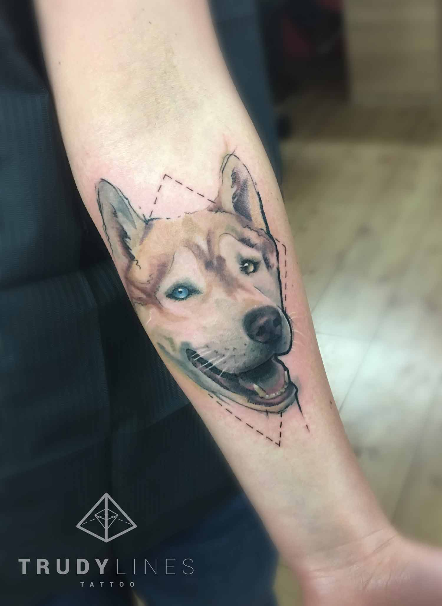 dogtattoo watercolor